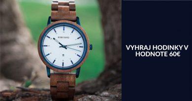 Súťaž o elegantné, drevené hodinky v hodnote 60€