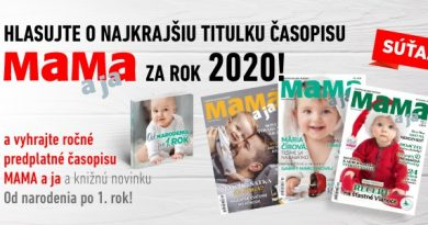 Vyhrajte ročné predplatné časopisu Mama a ja a výbornú knihu Od narodenia po prvý rok