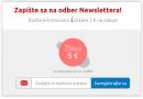 Akcia:  Zapíšte sa na odber Newslettera a získate 5 € na nákup