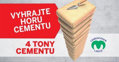 Súťaž o  4 tony cementu