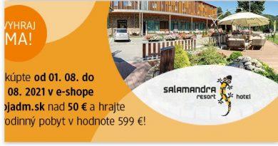 Súťaž o rodinný pobyt v hoteli Salamandra resort