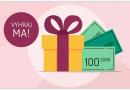 Vyhrajte 1000 € v hotovosti a ďalšie skvelé ceny
