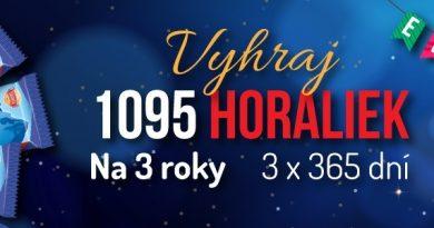 Veľká narodeninová súťaž o 1095 Horaliek